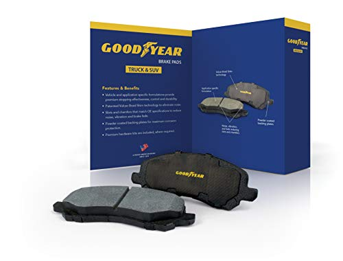 Goodyear Brakes GYD1602 Truck and SUV Carbon Ceramic Rear Disc Brake Pads Set Vehicle Replacement Part for Ford F-150 2019-2012
