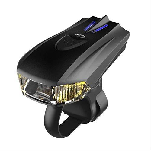 tangjiu Faro De Bicicleta,Alerta Inteligente De Inducción Vibración USB Cargando Faros De Bicicleta, Noche Montando Bicicleta De Montaña Luces Linterna