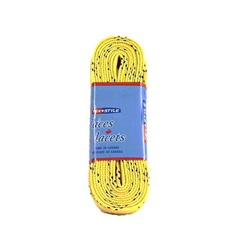 Tex-Style Schnürsenkel Inliner u. Schlittschuhe 180-304 cm Hockey Senkel farbig 274cm (gelb)