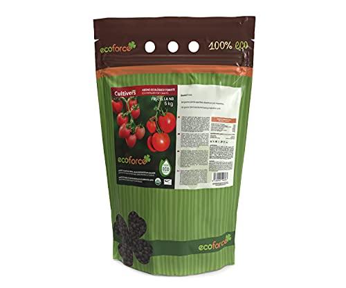 CULTIVERS Abono Ecológico para Tomate de 5 Kg. Fertilizante de Origen 100% Orgánico y Natural Microgránulado. Mejora la Productividad de los Cultivos Liberación Lenta