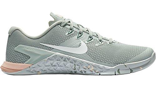 Nike Wmns Metcon 4, Zapatillas de Running para Mujer, (Light Silver/White/Guava Ice/Mica Green 007), 38.5 EU