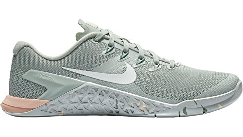 Nike Wmns Metcon 4, Zapatillas de Running para Mujer, (Light Silver/White/Guava Ice/Mica Green 007), 38.5 EU