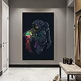 Abstrakte Kunst Raum Traum Lustige Astronaut Spielen