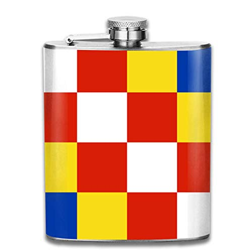 Flaschen Antwerpen Flag Portable 304 Edelstahl auslaufsicher Alkohol Whisky Alkohol Wein 7OZ Pot Flachmann Reise Flasche Camping Flagon für Mann Frau Großes kleines Geschenk