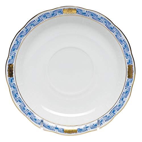 Herend Chinese Bouquet Garland Black Sapphire Porcelain Tea Saucer
