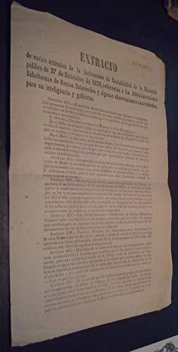 Extracto de varios artículos de la Instruccion de Contabili