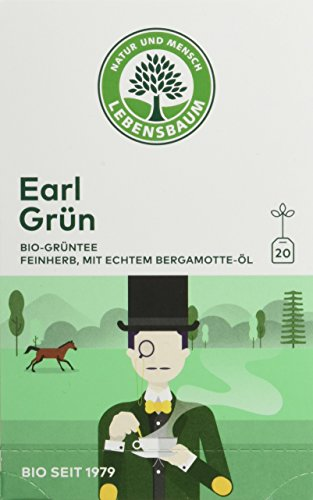 Lebensbaum Bio Grüntee Earl Grün, 3er Pack (3 x 30 g)