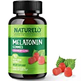 NATURELO Melatonin Gummies – Natural, Vegan, Non-GMO, Gluten-Free, Soy Free - Strawberry Flavor - Natural Sleep Supplement - 90 Vegan Gummies