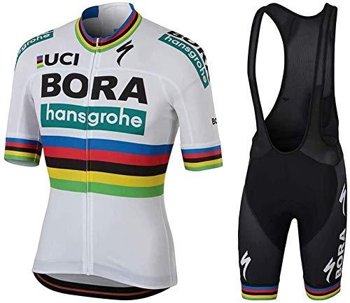 logas Herren Radtrikot Set 3D Gepolsterte Trägerhose Sommer Atmungsaktiv Kurzarm Bike Shirts Fahrradanzug