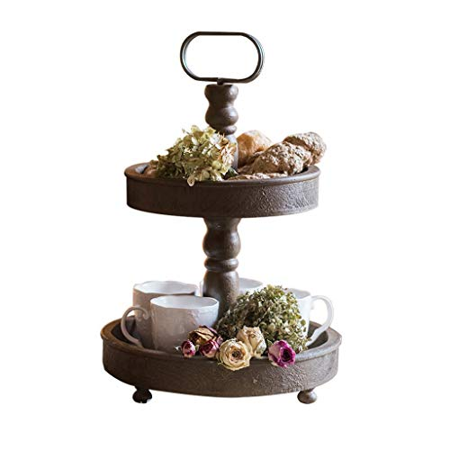 Support à fleurs en bois vintage multi-fonction 2 couche rack de stockage intérieur Rack de pot de plante verte charnue
