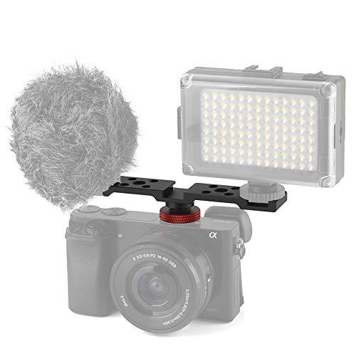 Hensych - Supporto per supporto per fotocamera a tre teste con attacco a slitta a caldo, con supporto per attacco a traversa, per microfono, monitor,