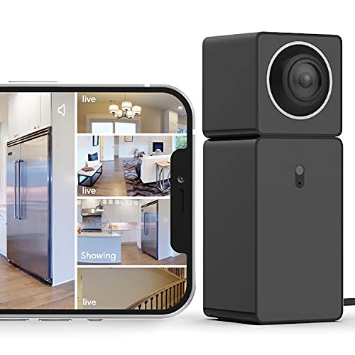 See 4 Areas with 1 Camera, Indoor WiFi Home Security Camera with Audio, 360° Video Coverage, Night Vision, Motion Detection, 1080P FHD, Mobile App with Alerts, Cloud Storage, Alexa & Google Assistant