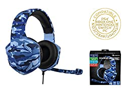 Game & chat stereo headphones. Plugs directly into the headphone jack of the PS4 controller and the new Xbox One controller. 40mm stereo headphones with a frequency range of 20HZ to 20KHZ for clear and accurate sound. Remote control for adjusting the...