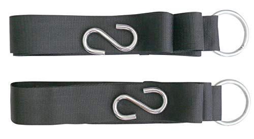 StanSport Unisex's Hammock Tree Straps-2/Pkg, Black, One Size