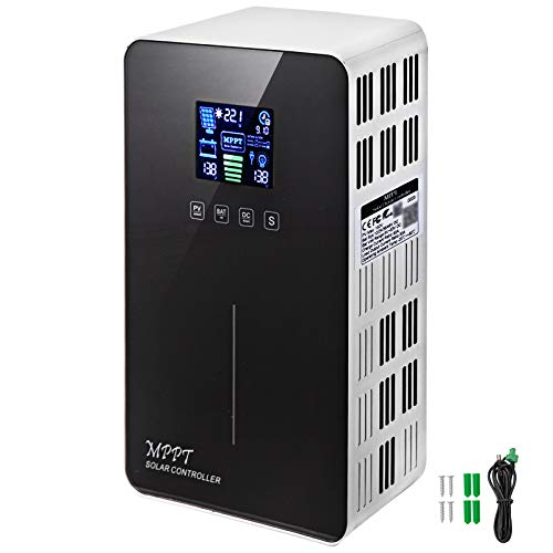 VEVOR Solarladeregler Laderegler MPPT 40A/60A, solar ladegerät 12V/24V/36V/48V PV mppt, Eingang automatische Erkennung 150V,mit LCD-Bildschirm und USB-Port (40A)