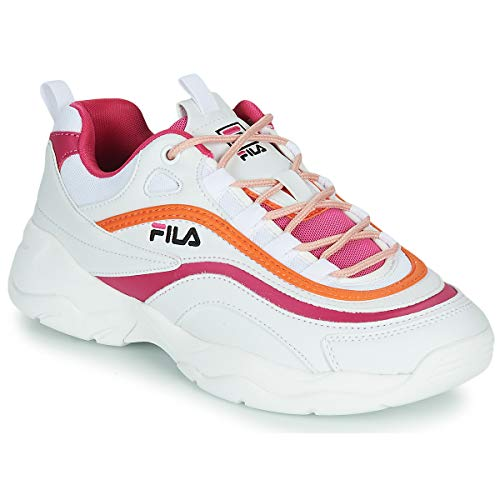 FILA RAY CB LOW WMN Sneakers dames Wit/Roze/Oranje Lage sneakers