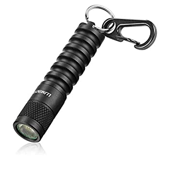 LUMINTOP EDC01 Keychain Flashlight 120 lumens Pocket EDC Flashlight,36 hours Long lasting,3 modes,IPX8 Waterproof,Powered by AAA battery not Included  for Indoor and Outdoor