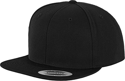 Yupoong Unisex Classic Snapback Cap Kappe, blk/blk, Einheitsgröße