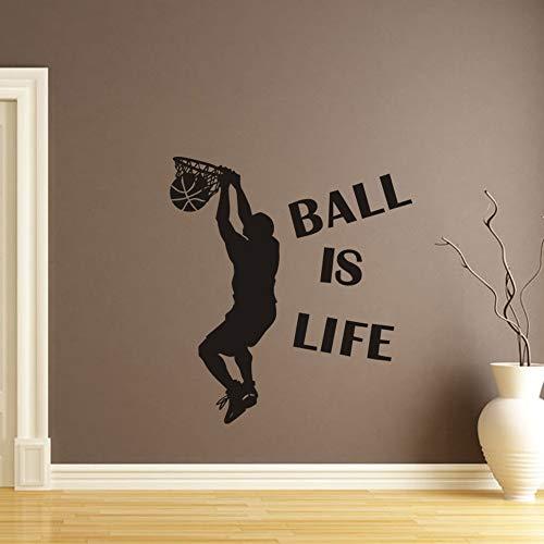 EWQHD Ball Est Life Sport Jouer Au Basket Mur Autocollant Pour Les Chambres D'Enfants Décor Mural Decal Amovible Adesivo De Parede Gros # 555