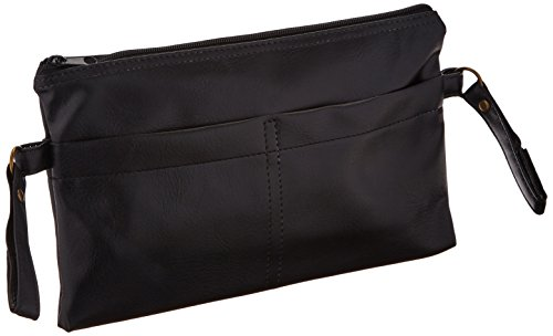 Sammons Preston Black Vinyl Side Pouch for Wheelchairs, Rollators, and Walkers, Attachable Portable Bag with Pocket…