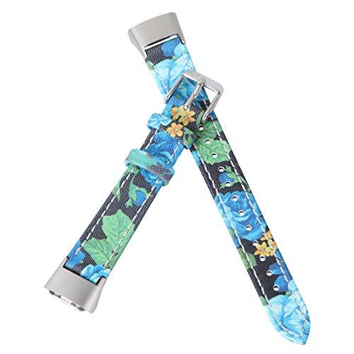 iplusmile Bandas Compatibles con Samsung Galaxy Ajuste SM- R370 Correa de Reloj de Cuero Patrón Impreso Smartwatch Accesorios Banda de Reloj Ajustable Correa de Repuesto para Mujeres