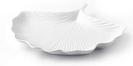 Nordic Style Plate Plate Personality Snack Plate Creative Sushi Plate Ginkgo Bladvorm Keramische plaat Sieradenlade Hoge t...