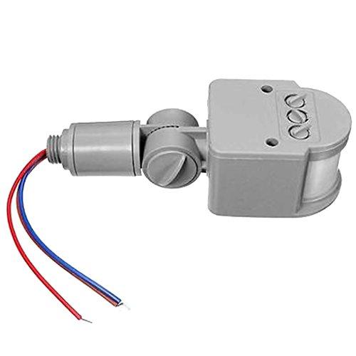 12m Pir Infrarot Bewegungssensor Detektor Wand LED-Licht Im Freien Rf 12 V DC Grau