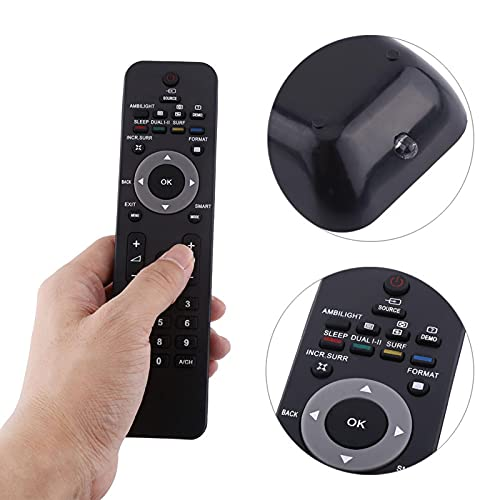 Qqmora Reemplazo de la televisión de Control de TV Televisión de Repuesto sin conflicto 242254901868 Mando a Distancia para TV LCD LED