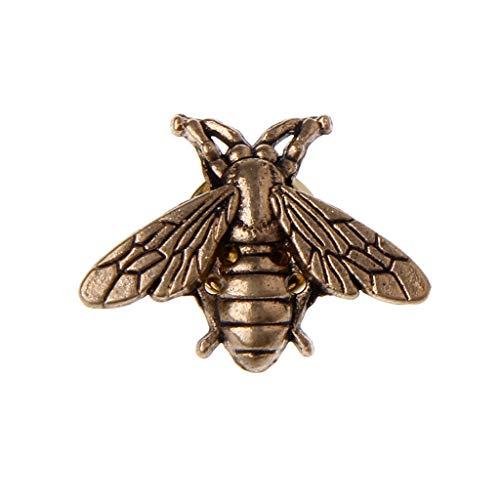 Perni di api vintage Amarzk Minuscole spille per insetti nuove per abito da uomo, gioielli in oro