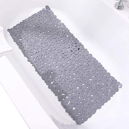 FENGLI Alfombrilla de baño antideslizante de piedra de guijarro de 40,6 x...