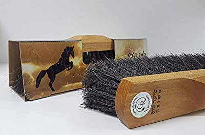 "GAMLIEL RETAIL Broom head, Made Pure Horse hair Floor Brush Sweeper 11.80"" x 3.15"" x 3.15"" inch, Natural wooden base Superior horsehair broom like an Old time"
