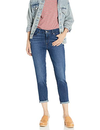Levi's Women's Classic Crop Jeans, Dark Indigo Moon, 28 (US 6)
