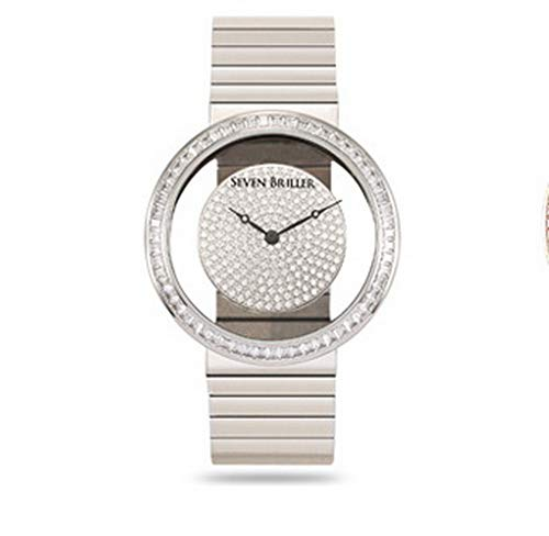 All Diamond Watches for Waterproof Watch Ladies Watches Brands Women Luxury Watches (Silver)