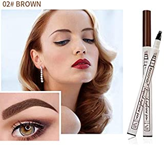 3 Colors Fine Sketch Liquid Eyebrow Pen Waterproof Tattoo Durable Eye Brow Pencil 02 Brown