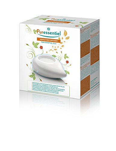 Puressentiel - Diffuseur à Chaleur Douce pour Huiles Essentielles - Perle Blanche - Régulation thermique et silencieux