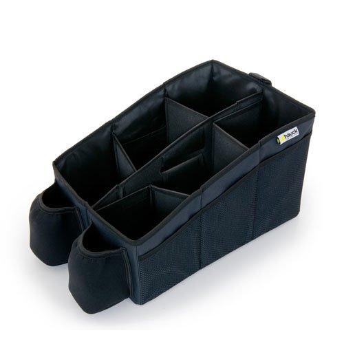 Hauck Organize Me Auto Utensilientasche, Rückbank Organizer, Autobox, Kofferraumbox, Faltbox Tasche mit Griff, grau