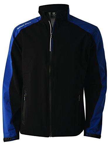 Wilson Golf Homme Veste de Pluie, PERFORMANCE TOP, Polyester, Noir, Taille: S, WGA700263