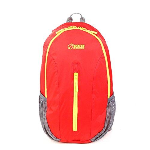 Backpack éclairage extérieur Sac Pliable/Sac de Peau/Sac à bandoulière/Purse-Red 20L