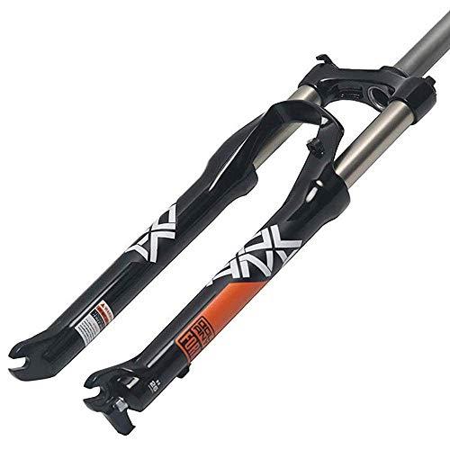 KQBAM Forcella Ammortizzata Ammortizzatore Mountain Bike Lega di Alluminio Molla 1-1/8'Accessori per Biciclette, Nero-26 Pollici