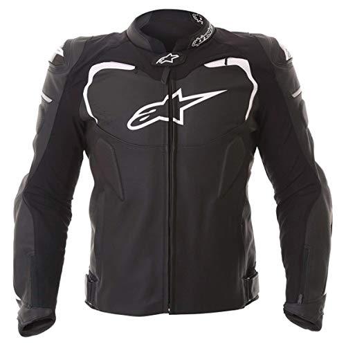 RSW Alpinestars GP Pro Perforated Leather Sport Motorcycle / Motorbike Jacket - Black / White (numeric_50)