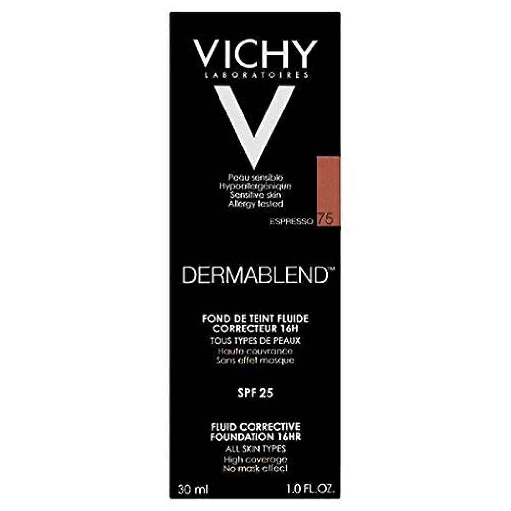 気配りのあるダブル謝る[Vichy ] ヴィシーDermablend流体是正基盤75エスプレッソ - Vichy Dermablend Fluid Corrective Foundation 75 Espresso [並行輸入品]