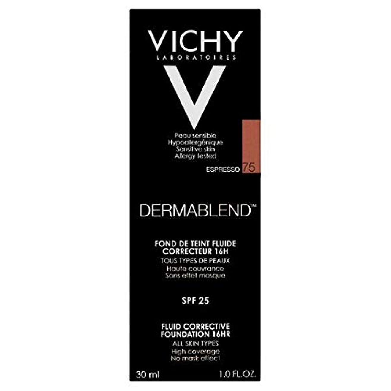 誕生枯れるリズミカルな[Vichy ] ヴィシーDermablend流体是正基盤75エスプレッソ - Vichy Dermablend Fluid Corrective Foundation 75 Espresso [並行輸入品]