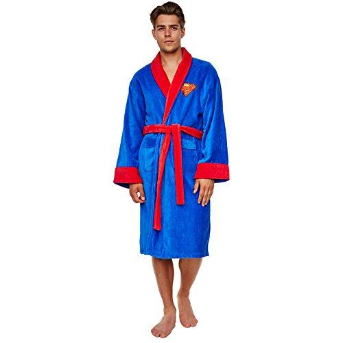 Groovy - Peignoir Superman - Bleu et Rouge - Taille unique