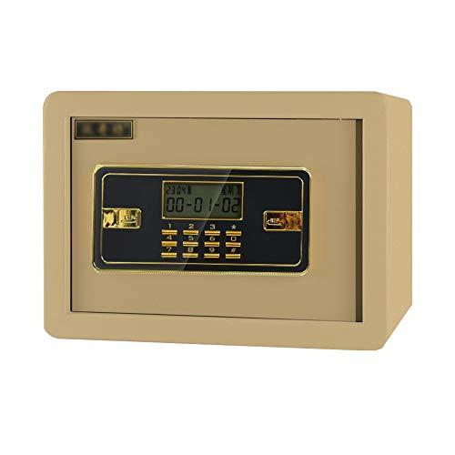 XSJZ Tresore Tresore, 25 Cm Hoch Ganzstahl-Passwortsicherheits-Alarmanlage mit Schlüsselsafe for Wertsachen Im Büro Zu Hause Möbeltresore (Color : Style 1)
