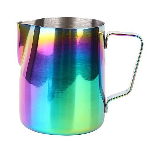 Jarra para hacer espuma de metal Taza de espuma para café de...