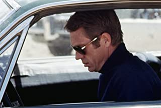 5aee76c96556a Steve McQueen in Bullitt iconic classic profile in Persol 0714 Sunglasses  in Ford Mustang car cool