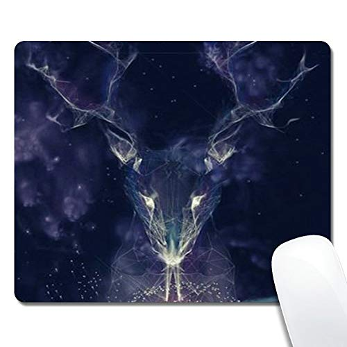 Customized Rectangle Mouse Pad, Starry Deer Spirit, Non-Slip Rubber Gaming Mousepad, Durable & Comfortable Mouse Mat with Stylish Pattern