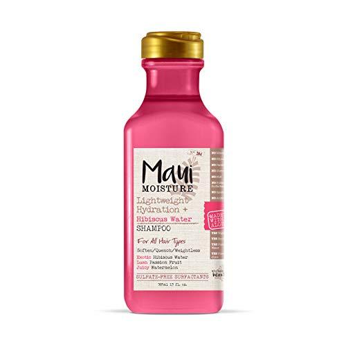 Maui Moisture Lightweight Hydration + Hibiscus Water Shampoo, 13 Fl. Oz (Pack of 1)