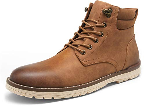 VOSTEY Men's Hiking Boots Waterproof Casual Chukka Boot for Men(10.5,Yellow Brown)