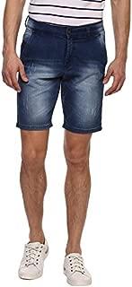AMERICAN CREW Men's Dark Blue Denim Shorts Stretchable